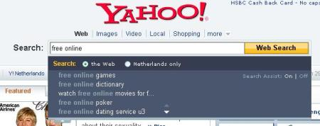 yahoo search assist